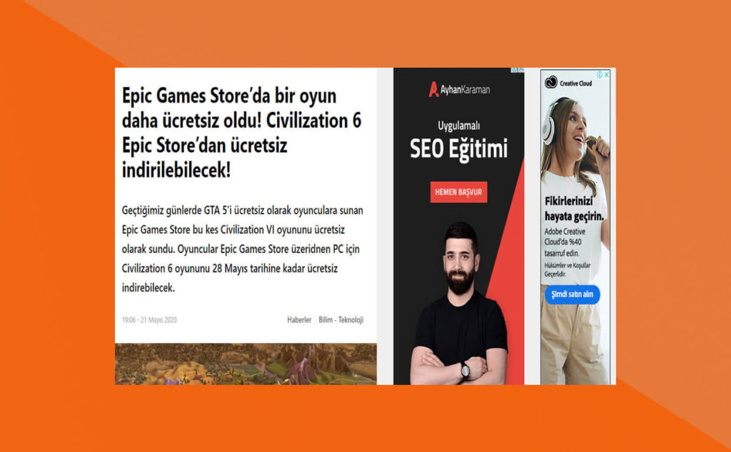 AdSense Sitede Nasıl Görünür