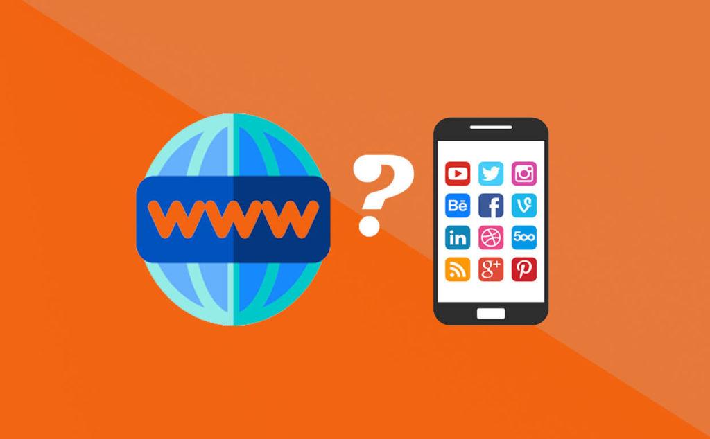 web sitesi veya sosyal medya